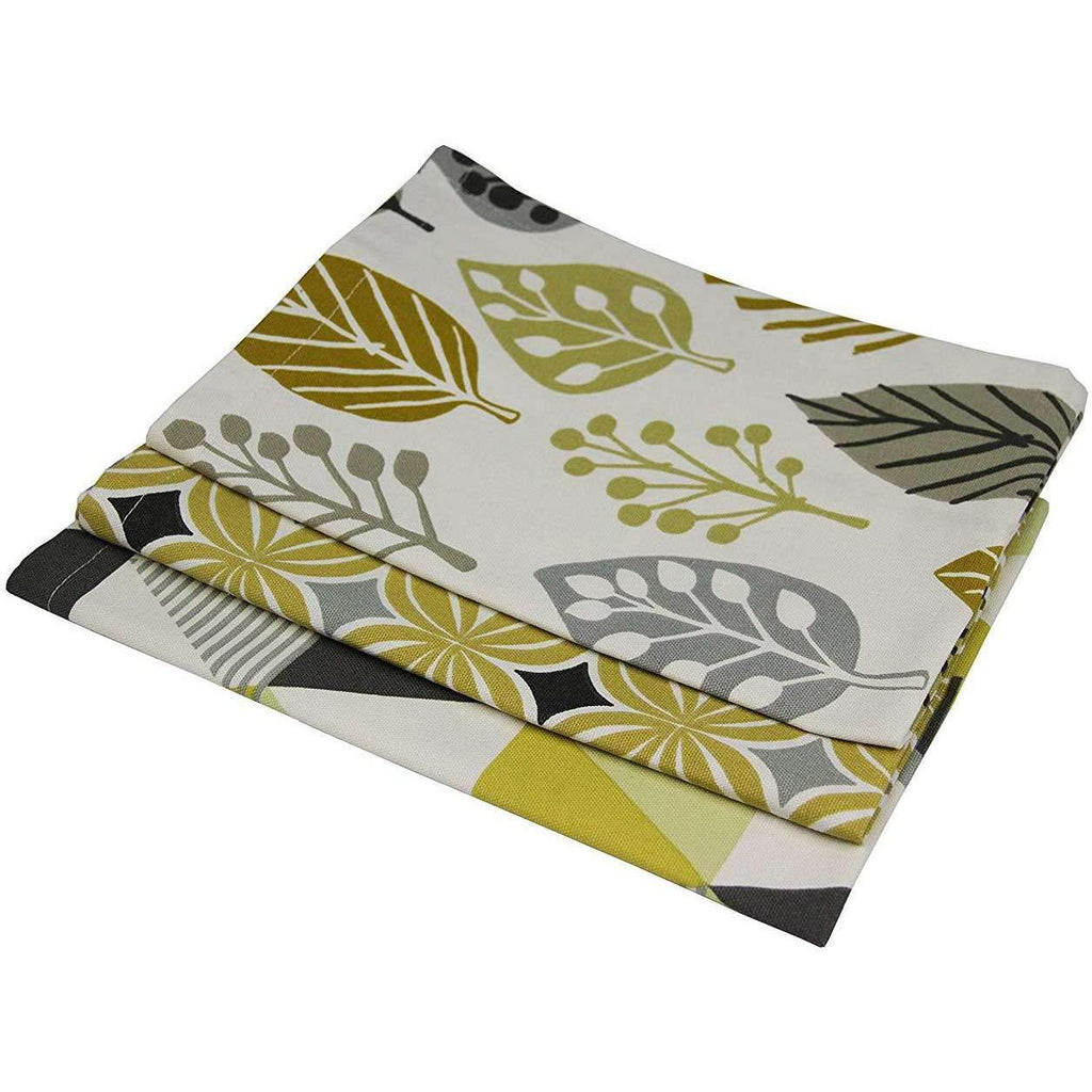 McAlister Textiles Ochre Yellow Cotton Tea Towel Set Kitchen Accessories