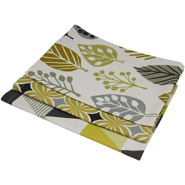 McAlister Textiles Scandinavian Cotton Ochre Yellow Tea Towel Sets Kitchen Accessories