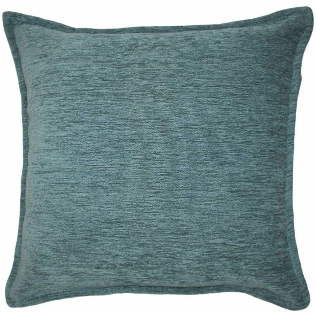 McAlister Textiles Plain Chenille Wedgewood Blue Pillow Pillow Cover Only 43cm x 43cm