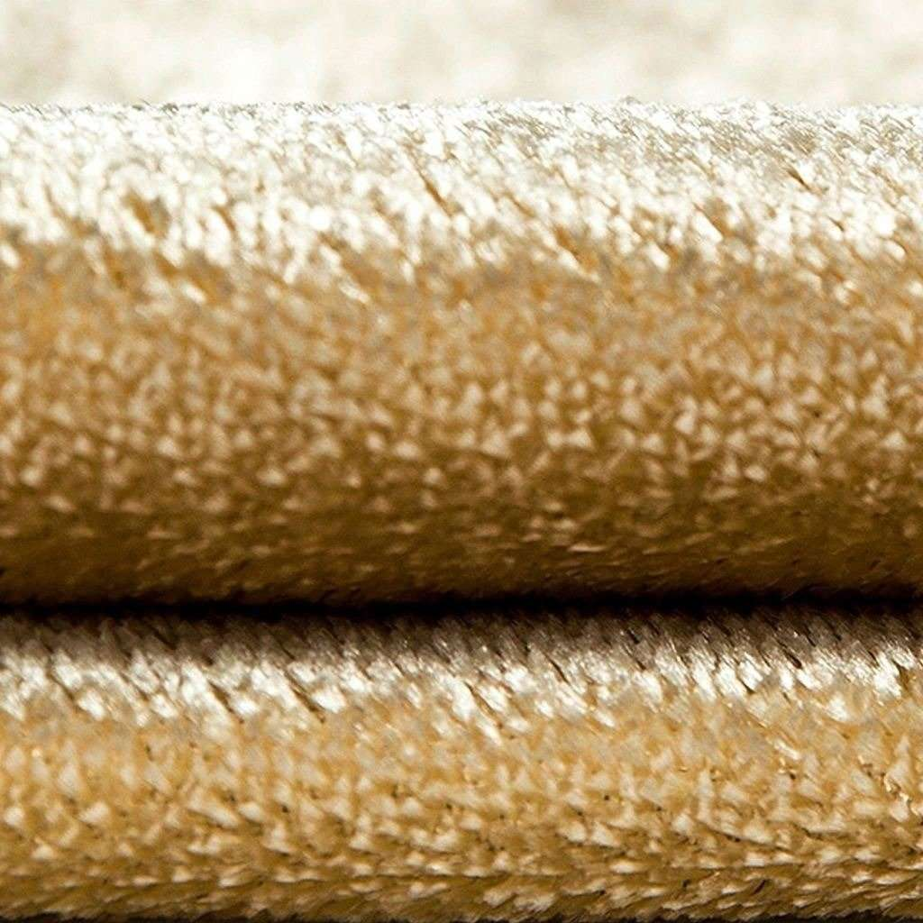 McAlister Textiles Champagne Gold Crushed Velvet Curtains Tailored Curtains