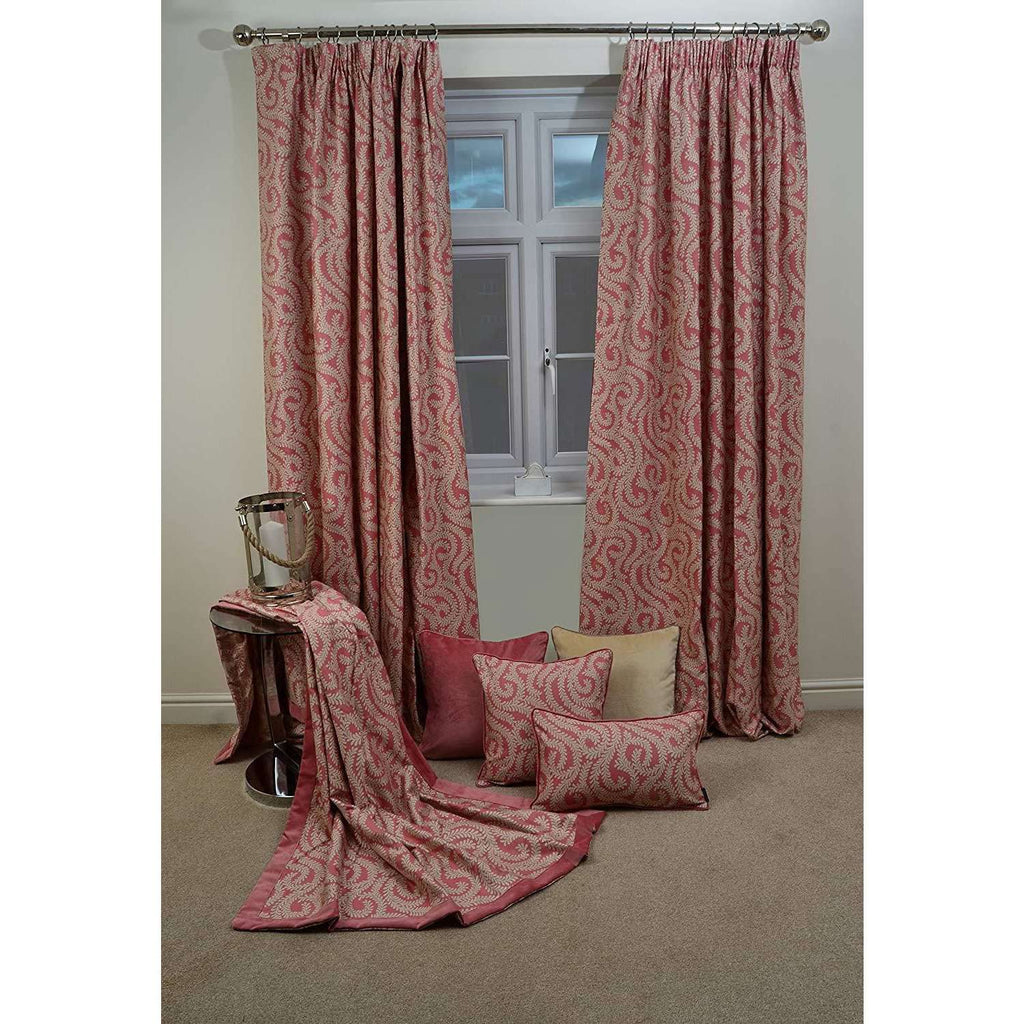 McAlister Textiles Little Leaf Blush Pink Throw Throws and Runners