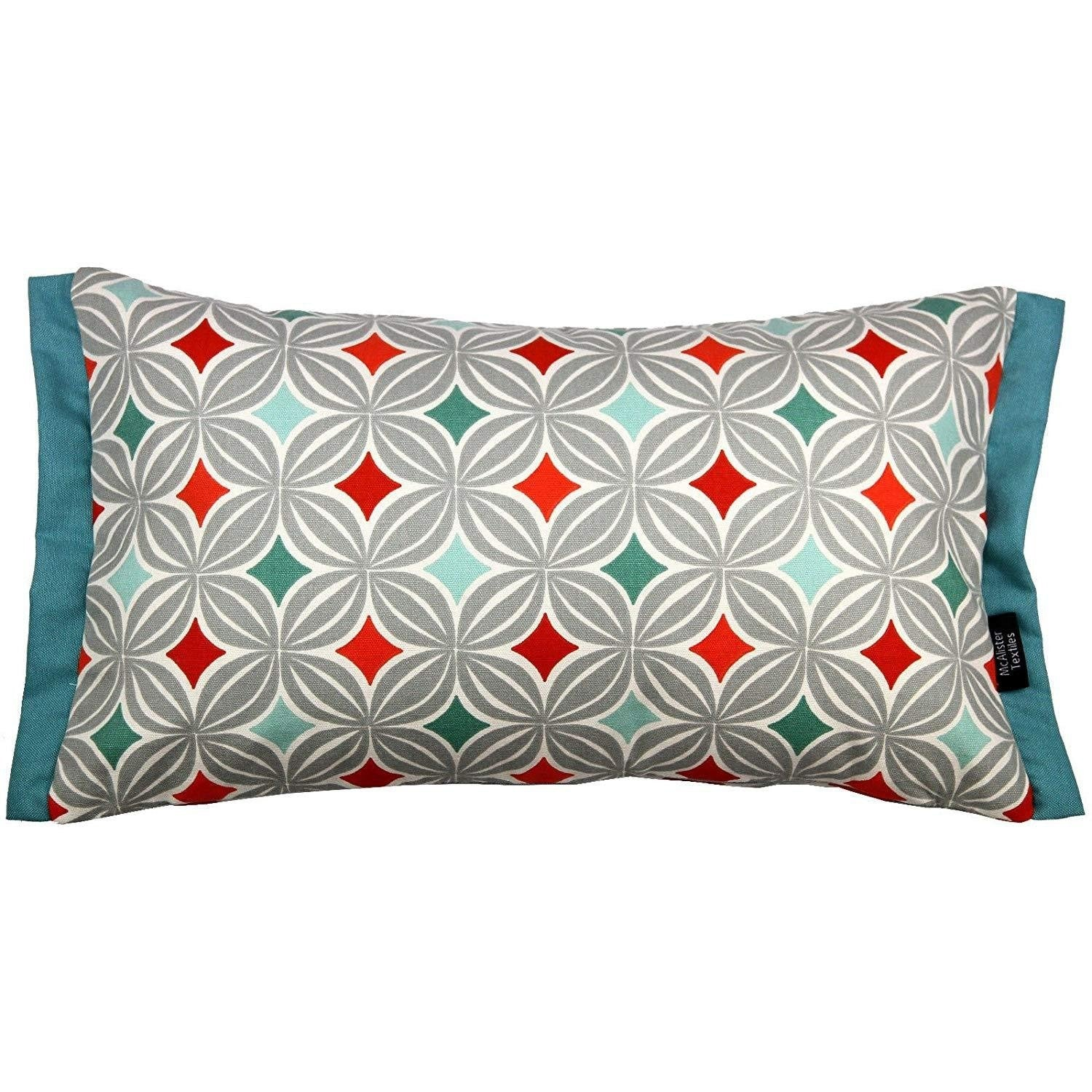 McAlister Textiles Laila Cotton Print Burnt Orange Pillow Pillow Cover Only 50cm x 30cm