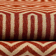 mcalister-textiles-terracotta-orange-Colorado-woven-geometric-fabric-close-up