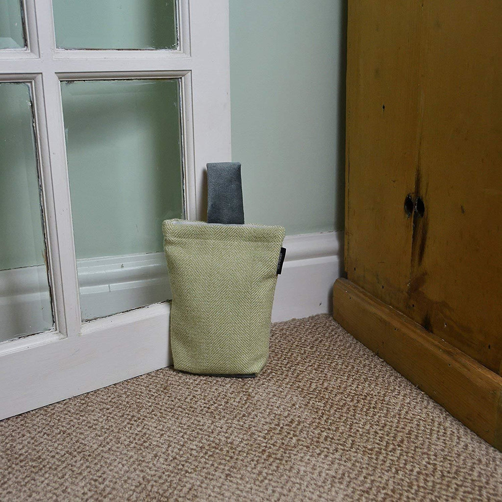 McAlister Textiles Herringbone Boutique Green + Grey Door Stop Doorstops