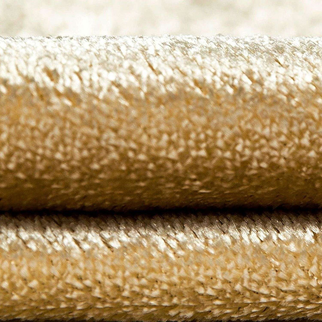 McAlister Textiles Champagne Gold Crushed Velvet Throws & Runners Throws and Runners