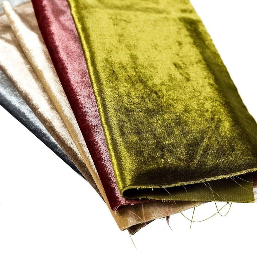 McAlister Textiles Lime Green Crushed Velvet Table Runner Throws and Runners