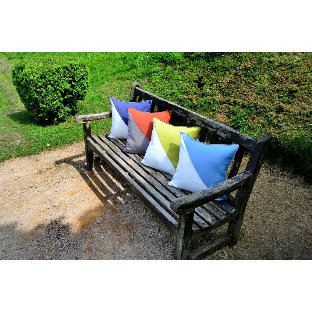 McAlister Textiles Panama Patchwork Navy Blue + Natural Cushion Cushions and Covers