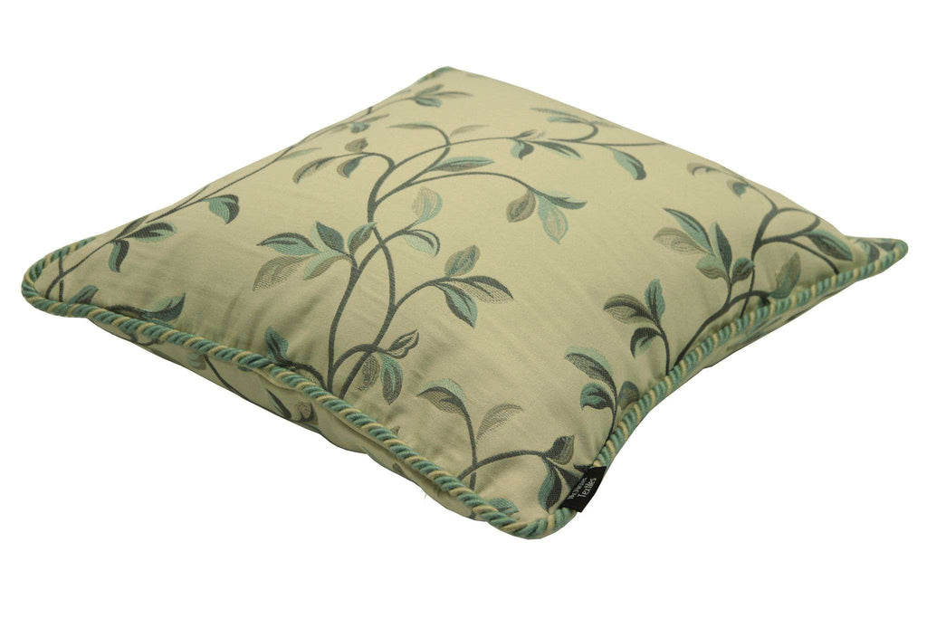 McAlister Textiles Annabel Floral Duck Egg Blue Pillow Pillow