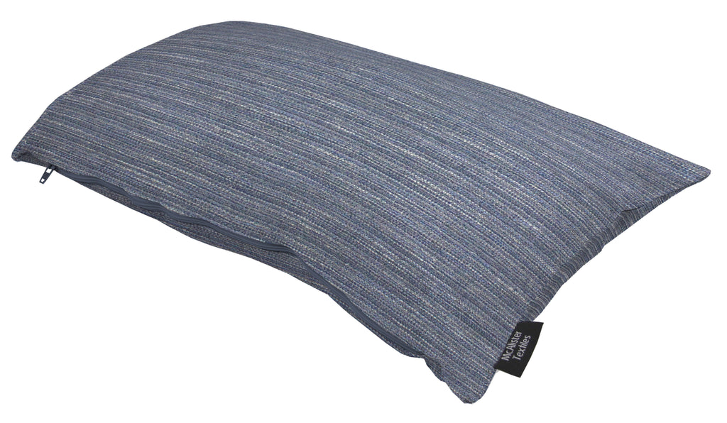 McAlister Textiles Hamleton Navy Blue Textured Plain Pillow Pillow
