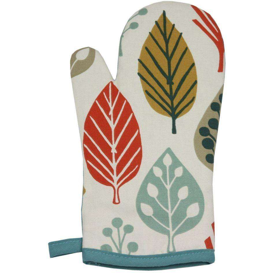 McAlister Textiles Magda Burnt Orange Cotton Print Single Oven Mitt Kitchen Accessories
