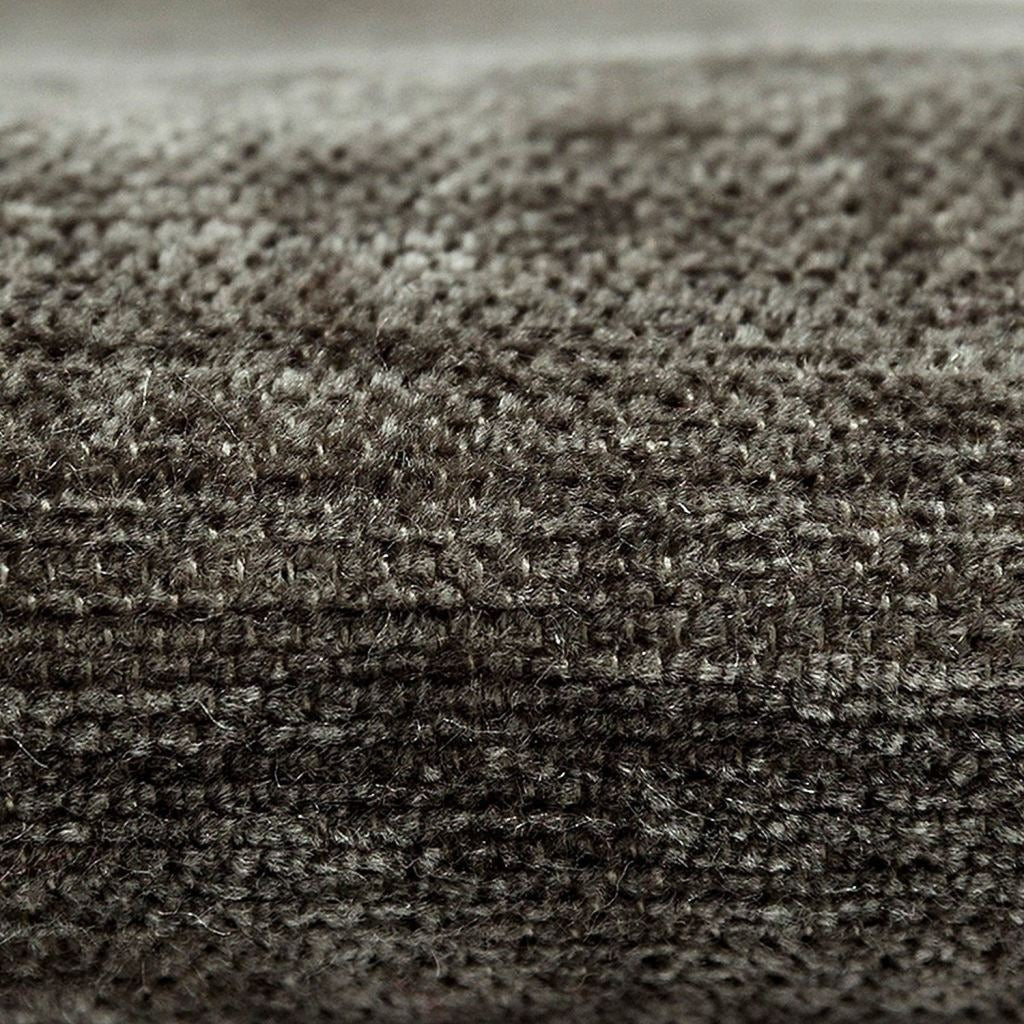 McAlister Textiles Plain Chenille Charcoal Grey Fabric Fabrics