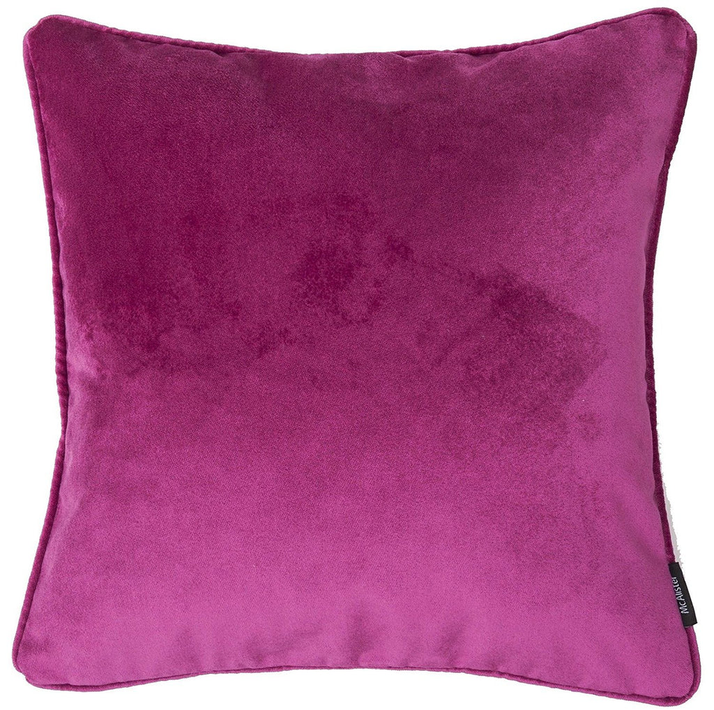 McAlister Textiles Matt Fuchsia Pink Velvet Cushion Cushions and Covers Cover Only 43cm x 43cm