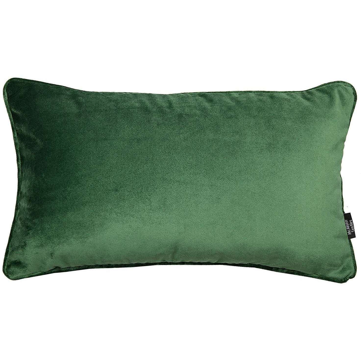 McAlister Textiles Matt Moss Green Velvet Cushion Cushions and Covers Cover Only 50cm x 30cm