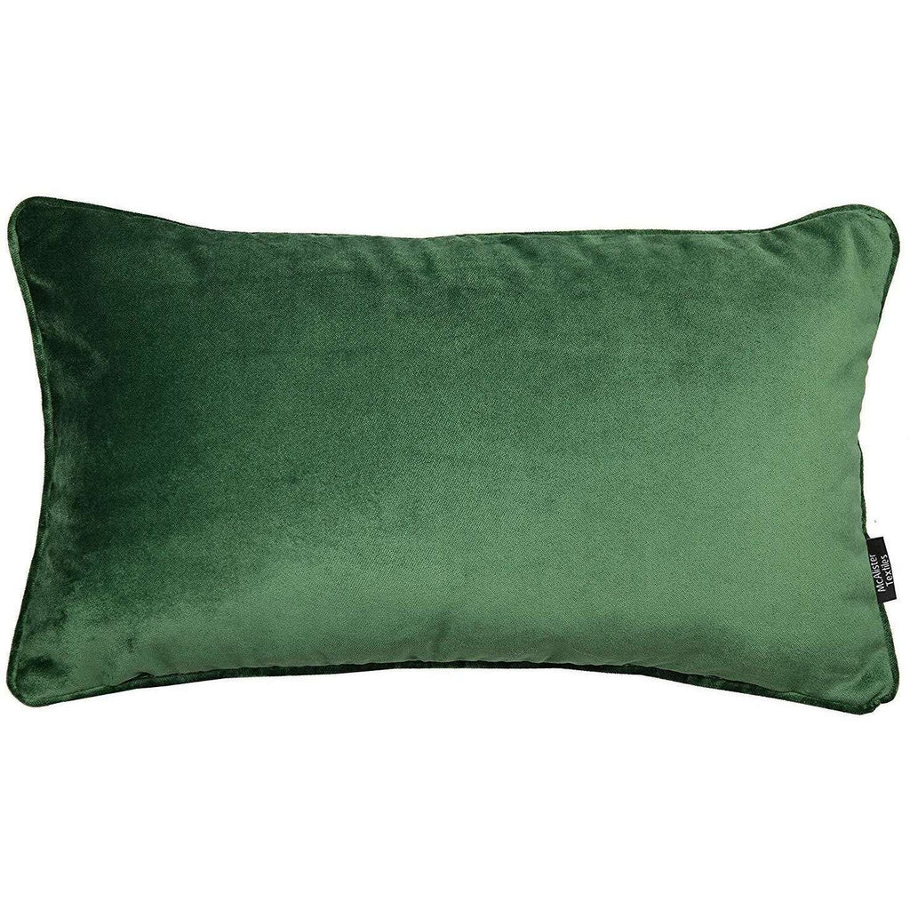 McAlister Textiles Matt Moss Green Velvet Pillow Pillow Cover Only 50cm x 30cm