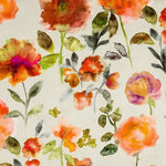 Load image into Gallery viewer, McAlister Textiles Renoir Floral Orange Velvet Fabric Fabrics 1 Metre
