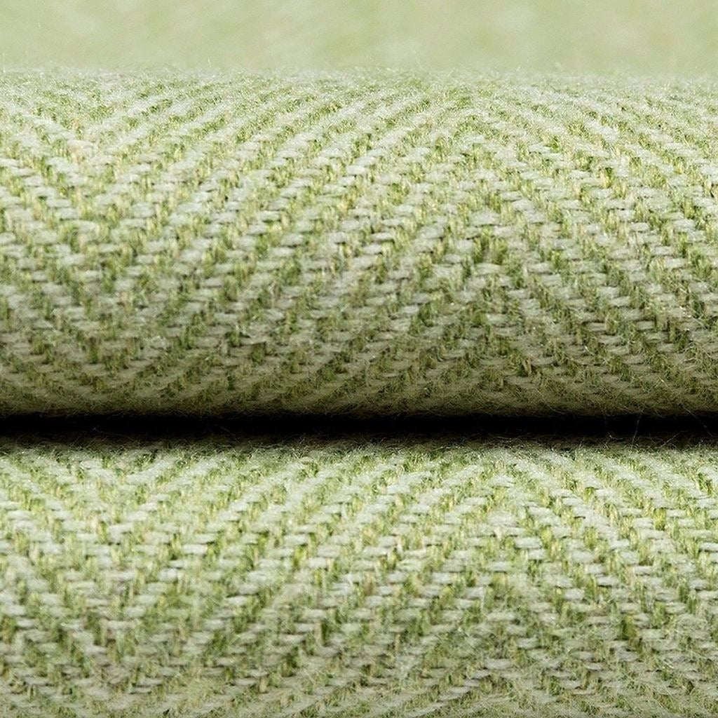 McAlister Textiles Herringbone Sage Green Throws & Runners Throws and Runners