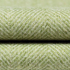 McAlister Textiles Herringbone Woven Wool Feel Sage Green Throw & Runners-Throws and Runners-