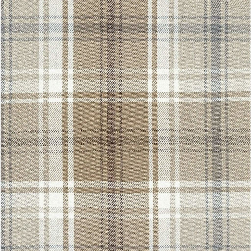 McAlister Textiles Angus Beige Cream Tartan Cushion Cushions and Covers