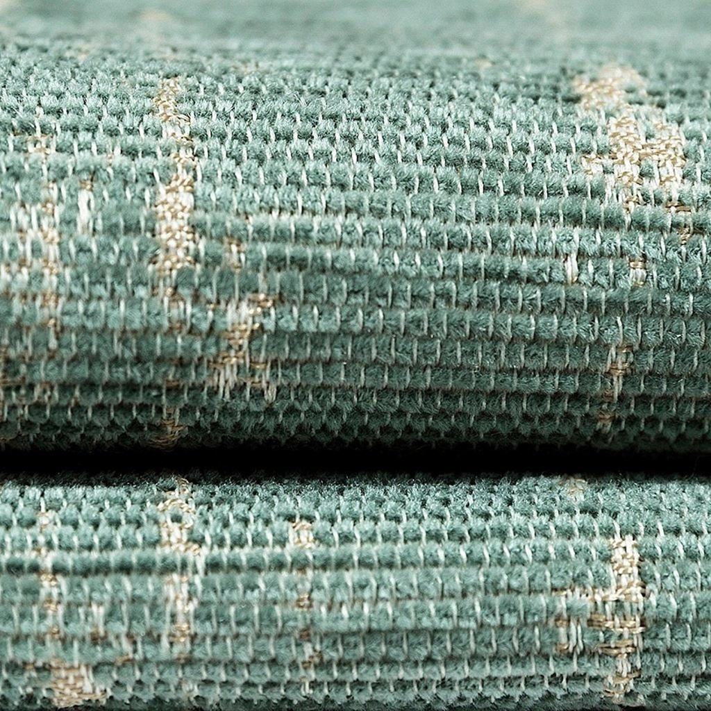 McAlister Textiles Textured Chenille Duck Egg Blue Fabric Fabrics