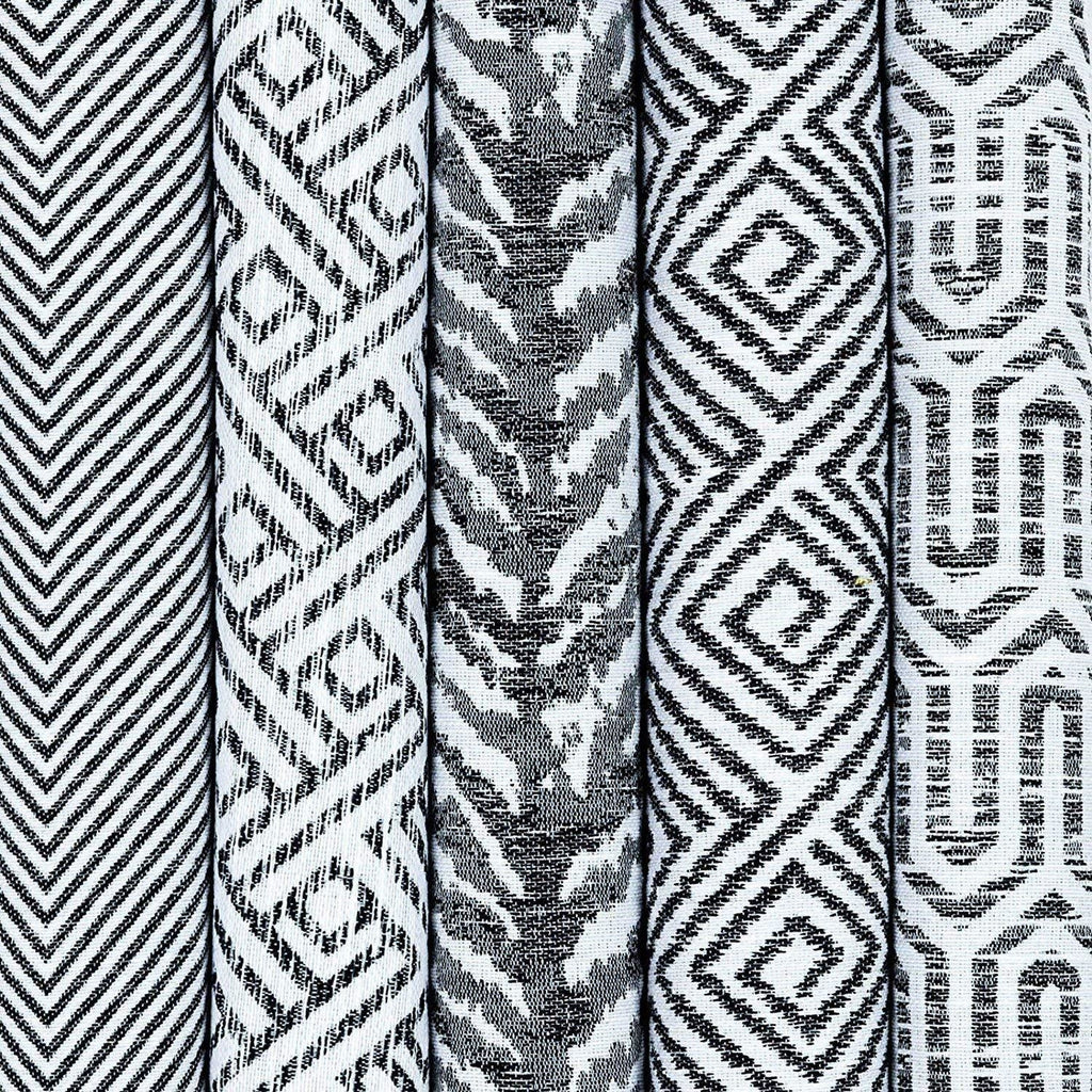 McAlister Textiles Aztec Geometric Black + White 43cm x 43cm Cushion Sets Cushions and Covers