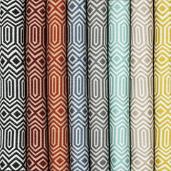 McAlister Textiles Colorado Geometric Pattern Print Tailored Curtains Made To Measure Woven Fabric Colour Selection Range