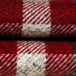 Charger l'image dans la galerie, McAlister Textiles Heritage Tartan Red + White Curtain Fabric Fabrics