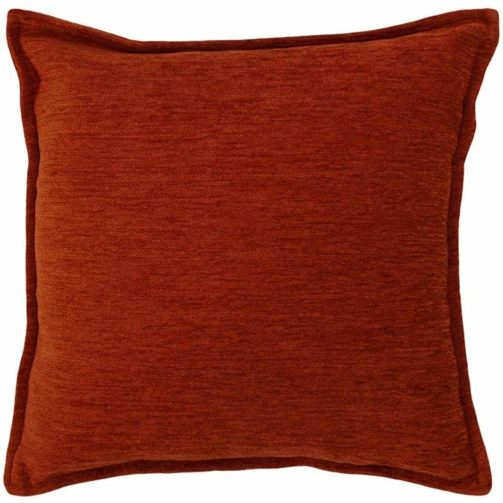 McAlister Textiles Plain Chenille Burnt Orange Pillow Pillow Cover Only 43cm x 43cm