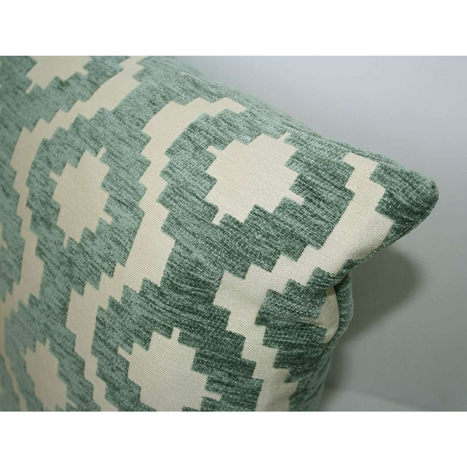 McAlister Textiles Arizona Geometric Duck Egg Blue Cushion Cushions and Covers