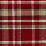 Charger l'image dans la galerie, McAlister Textiles Heritage Tartan Red + White Curtain Fabric Fabrics 1 Metre