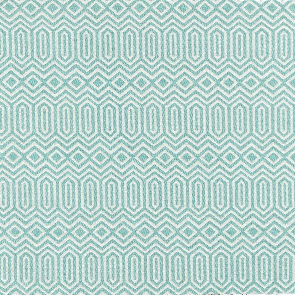 McAlister Textiles Colorado Geometric Pattern Fabric - Duck Egg Blue Fabrics