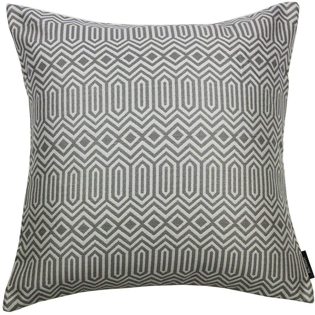 McAlister Textiles Colorado Geometric Charcoal Grey Cushion Cushions and Covers Polyester Filler 43cm x 43cm