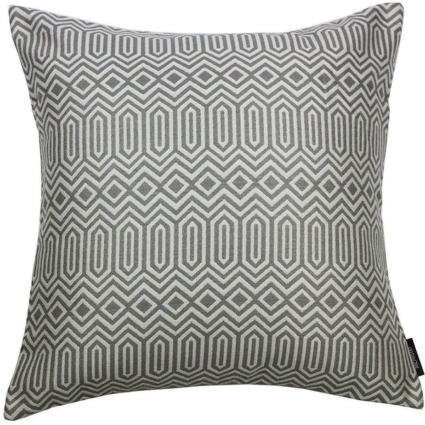 McAlister Textiles Colorado Geometric Charcoal Grey Cushion Cushions and Covers Cover Only 43cm x 43cm