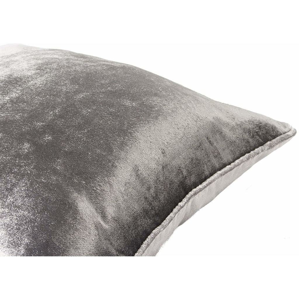 McAlister Textiles Charcoal Grey Crushed Velvet Cushions Cushions and Covers