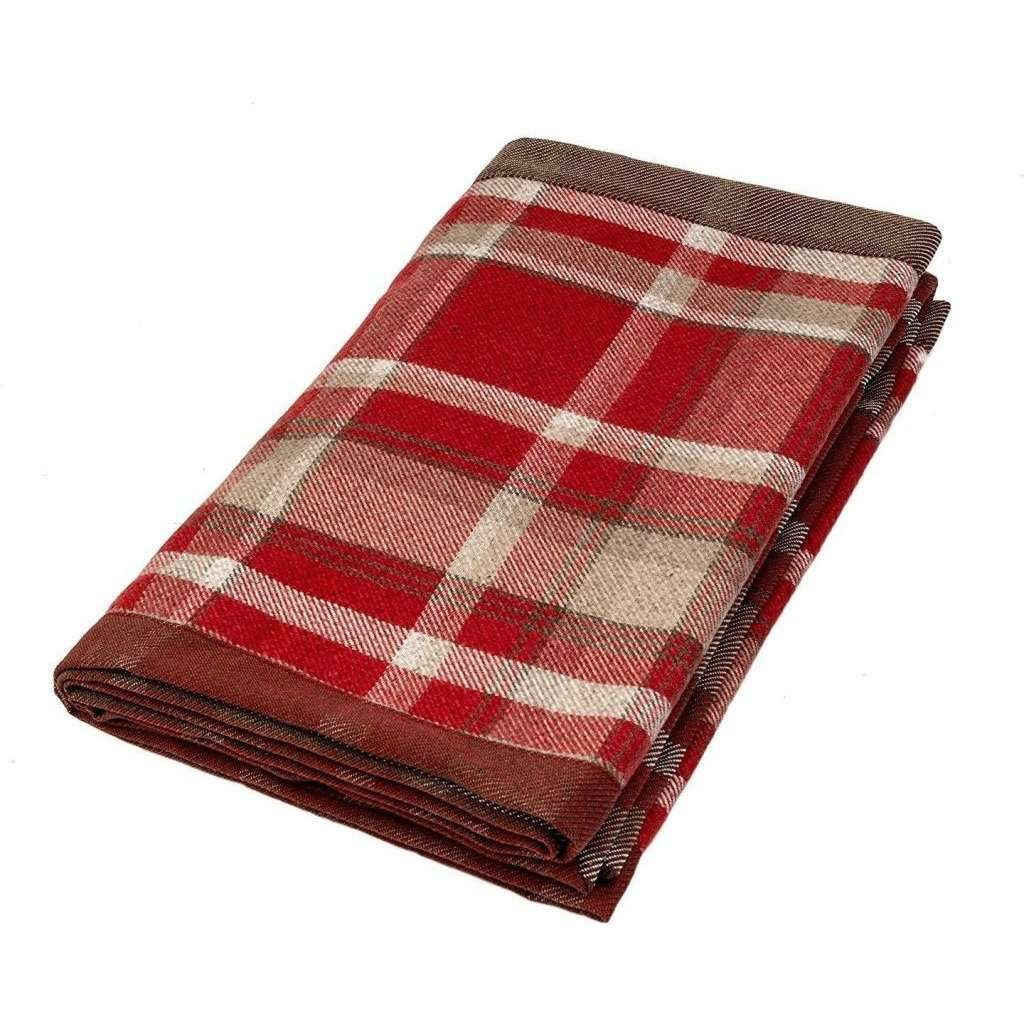 McAlister Textiles Heritage Red + White Tartan Table Runner Throws and Runners Table Runner (30cm x 200cm)