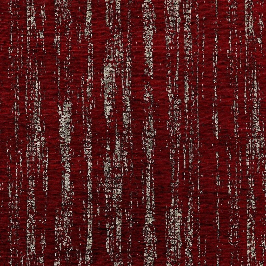 McAlister Textiles Textured Chenille Wine Red Fabric Fabrics 1/2 Metre