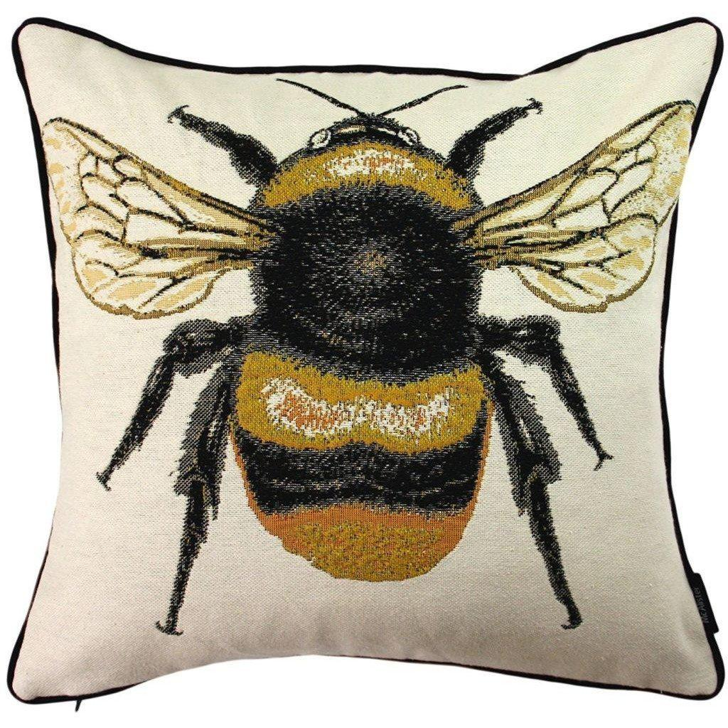 McAlister Textiles Bug's Life Tapestry Queen Bumble Bee Scatter Cushion Cushions and Covers