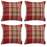Carica l'immagine nel visualizzatore di Gallery, McAlister Textiles Heritage Red + White Tartan 43cm x 43cm Cushion Sets Cushions and Covers Cushion Covers Set of 4