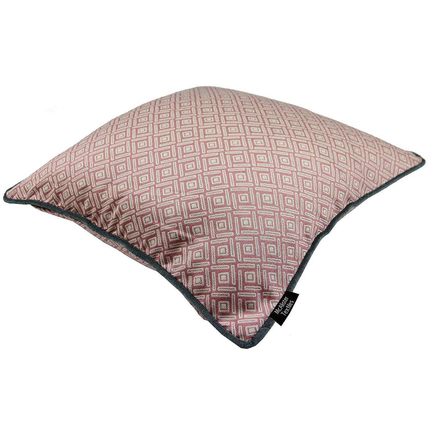 McAlister Textiles Scandinavian Blush Pink 43cm x 43cm Cushion Set of 3 Cushions and Covers