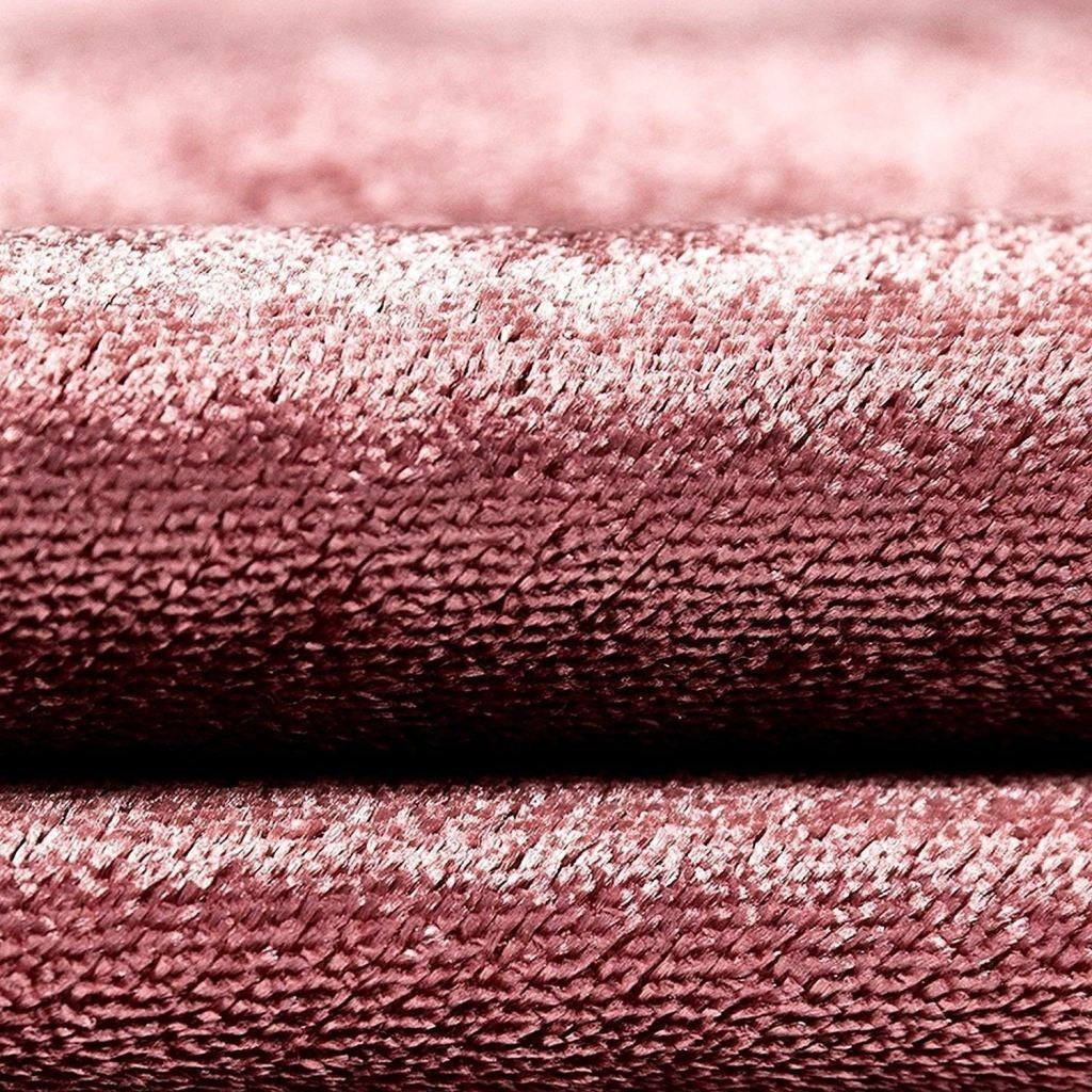 McAlister Textiles Rose Pink Crushed Velvet Curtains Tailored Curtains