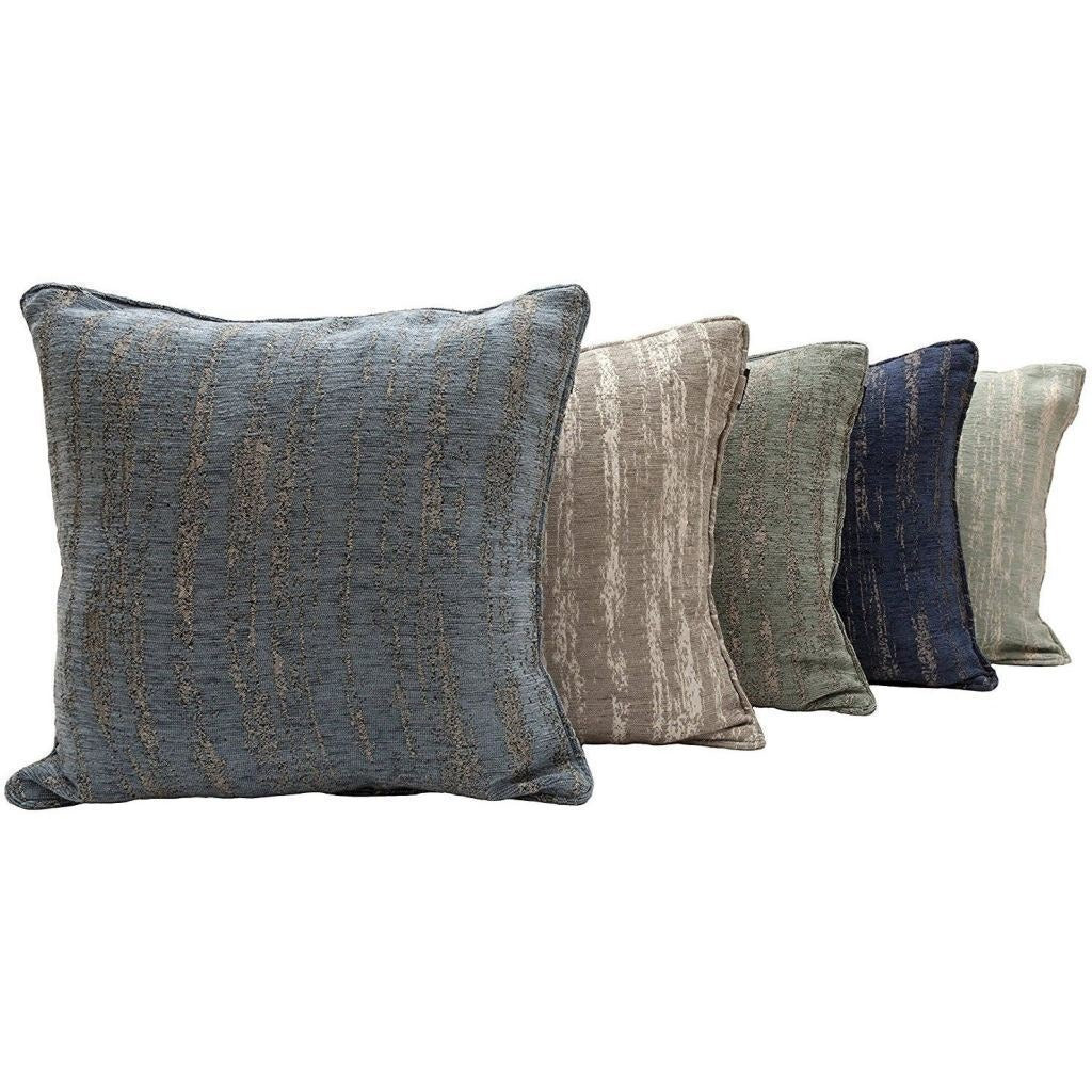 McAlister Textiles Textured Chenille Duck Egg Blue Cushion Cushions and Covers