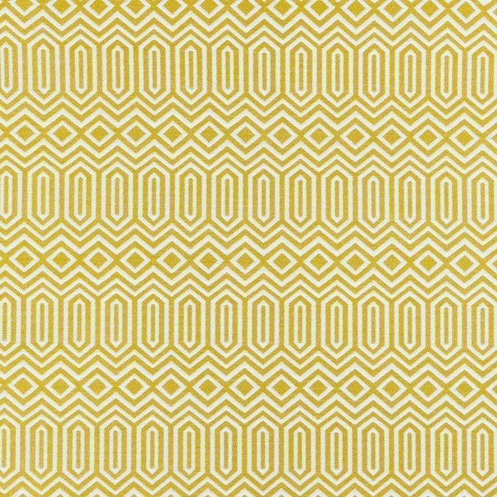 McAlister Textiles Colorado Geometric Mustard Yellow Fabric Sample Fabrics