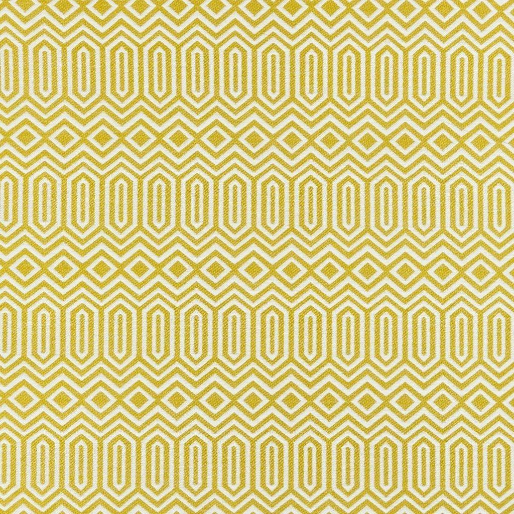 McAlister Textiles Colorado Geometric Yellow Fabric Fabrics 1 Metre