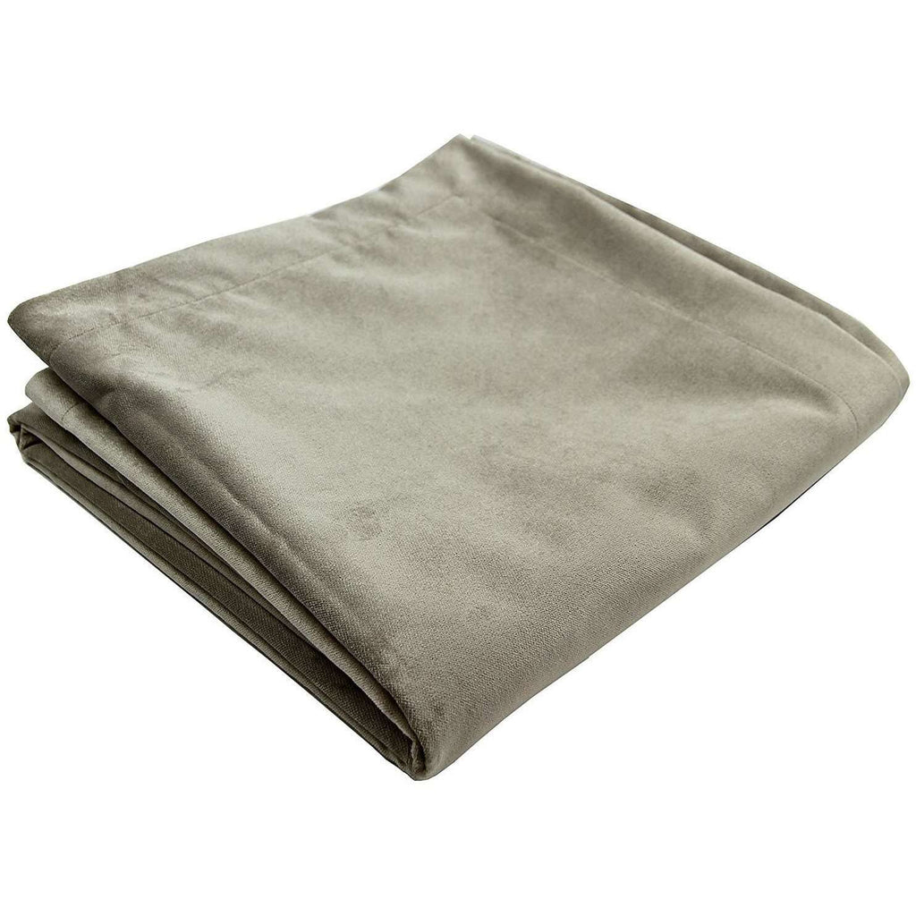 McAlister Textiles Matt Beige Mink Velvet Throw Blankets & Runners Throws and Runners Regular (130cm x 200cm)