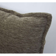 McAlister Textiles Plain Chenille Fabric Woven Pillow Cushion Covers Grey