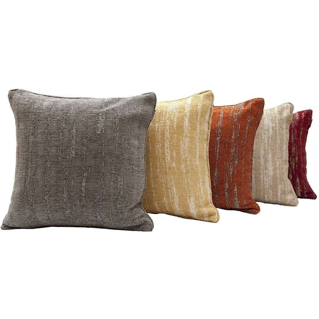 McAlister Textiles Textured Chenille Mustard Yellow Cushion Cushions and Covers
