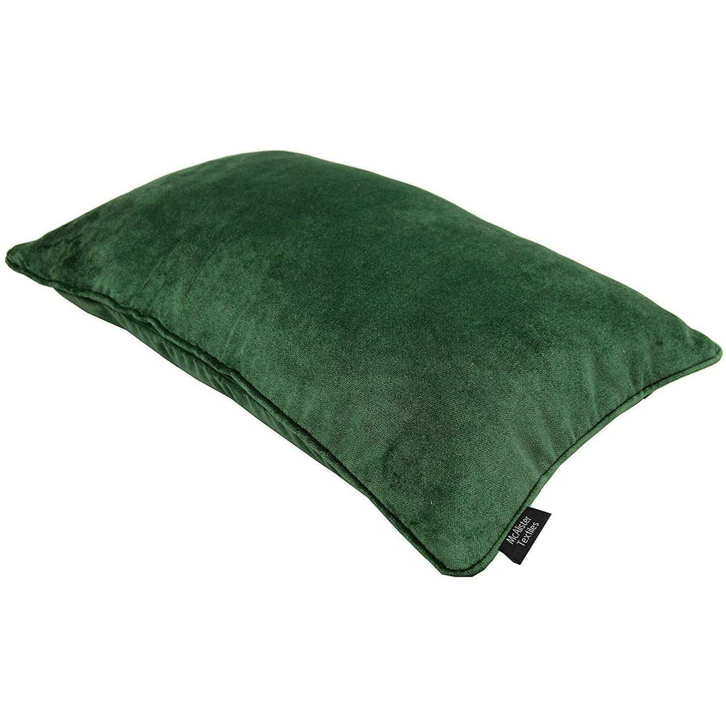 McAlister Textiles Matt Moss Green Velvet Cushion Cushions and Covers