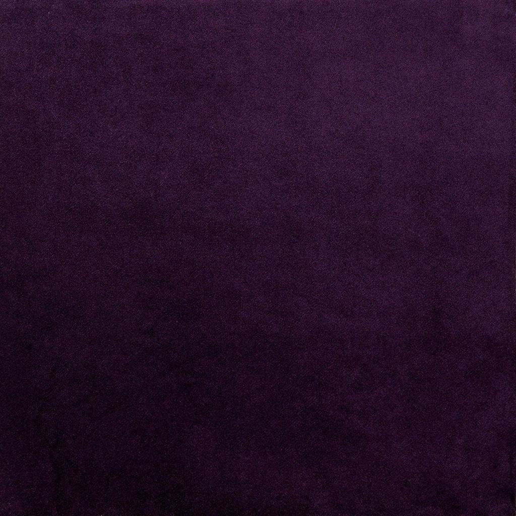 McAlister Textiles Matt Aubergine Purple Velvet Throw Blankets & Runners Throws and Runners