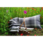 Load image into Gallery viewer, McAlister Textiles Angus Charcoal Grey Tartan Cushion Cushions and Covers