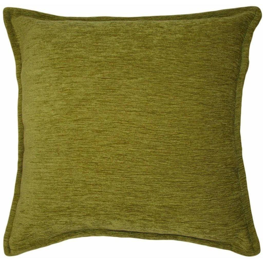 McAlister Textiles Plain Chenille Lime Green Pillow Pillow Cover Only 49cm x 49cm