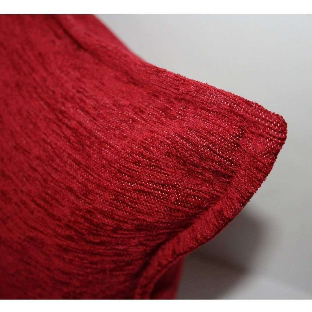 McAlister Textiles Plain Chenille Red Pillow Pillow